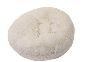 Cream Shag Round Beds
