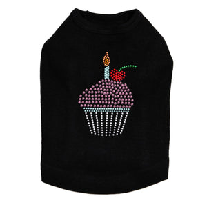 Cupcake with Candle - Dog Tank - Choose Color