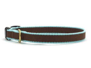 Bamboo Cat Brown and Aqua Collar