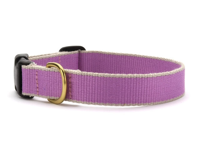 Lilac and Gray Bamboo Dog Collar