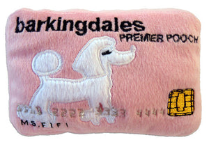 Barkingdales Credit Card Plush Dog Toy