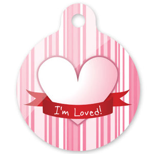 I'm Loved Dog ID Tag with QR Code