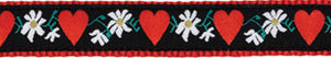 Hearts and Flowers Dog Harness
