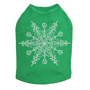 Extra Large Snowflake - Dog Tank Kelly Green