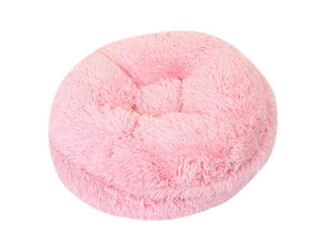 Light Pink Shag Bagel Beds