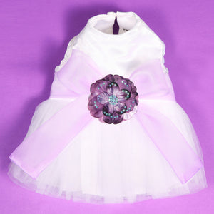 Madeleine Dog Dress With Lilac Sash