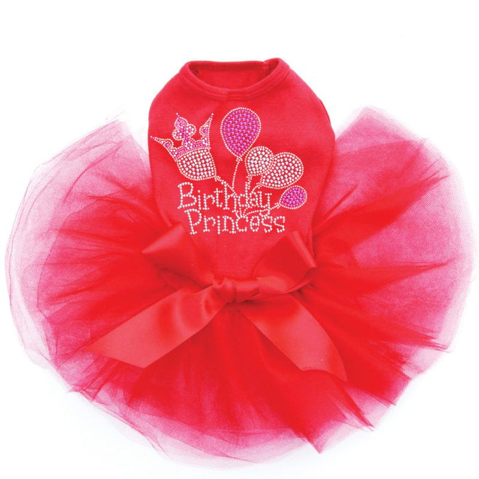 Princess Birthday Dog Tutu - Red