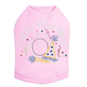 Happy New Year Clock - Dog Tank Pink