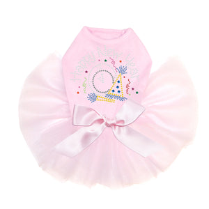 Happy New Year Clock - Tutu Pink