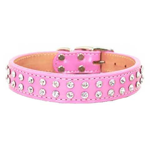 Maxwell & Madison Collars w/ 2-Row of Swarovski Crystals Pink