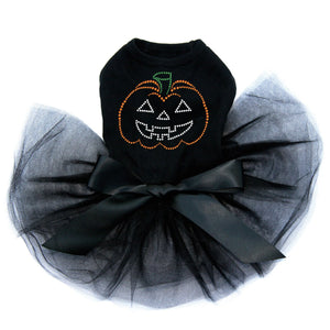 Jack-o-lantern Outline - Tutu - Black, Pink or Red