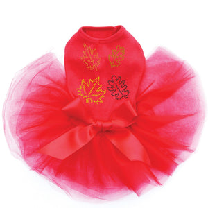 Fall Leaves #3- Tutu - Black, Pink or Red
