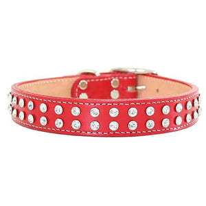 Maxwell & Madison Collars w/ 2-Row of Swarovski Crystals Red