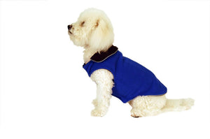 Solid Fleece Coat-Royal Blue