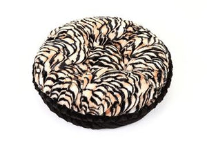 Tiger & Black Shag Bagel Bed