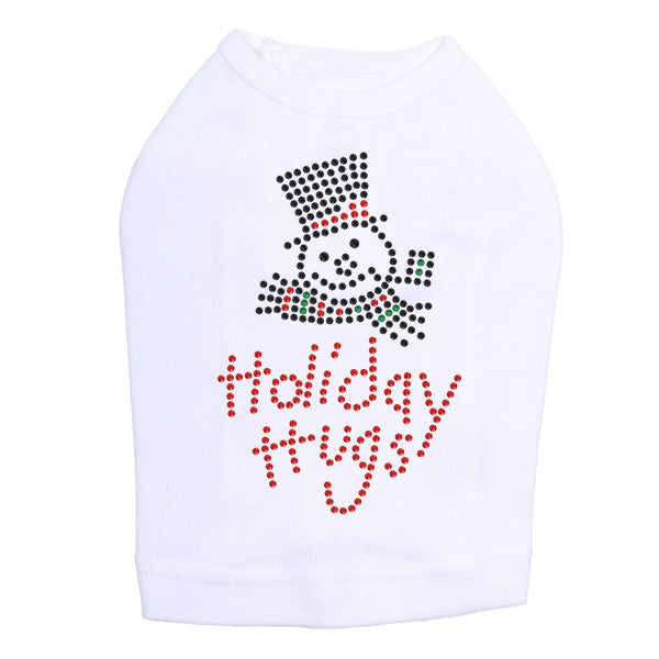 Holiday Hugs - Dog Tank White