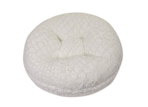 White Crocodile Mink Bagel Bed