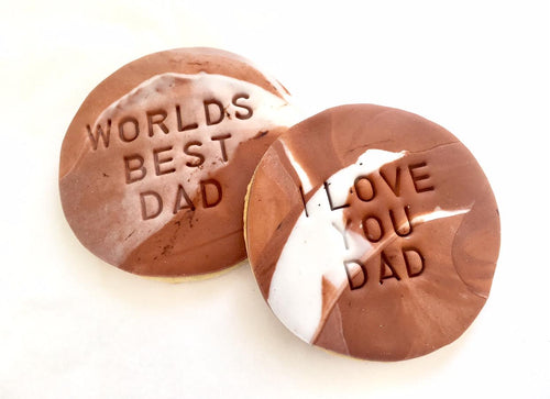 Father's Day Cookies - Brown Marble