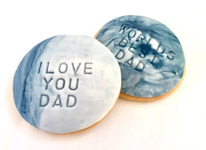 Fathers Day Cookies - Blue Marble