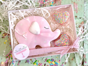 Baby Elephant Gift Box - Pink