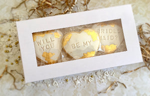 Bridesmaid Proposal Cookie Set - Gold Swipe