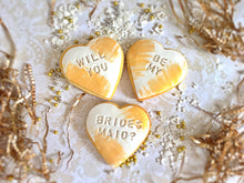Load image into Gallery viewer, Bridesmaid Proposal Cookie Set - Gold Swipe