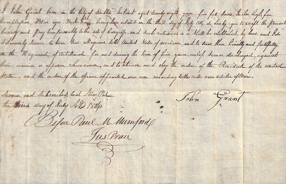 1804 Enlistment Papers