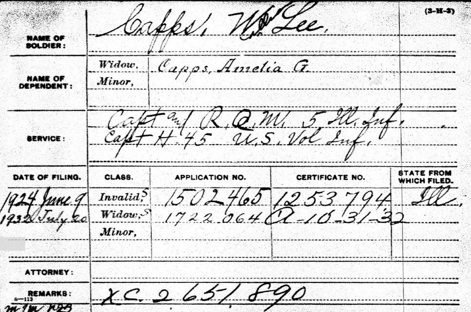 Spanish-American War Pension File