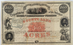 War of 1812 Bounty Land Warrant
