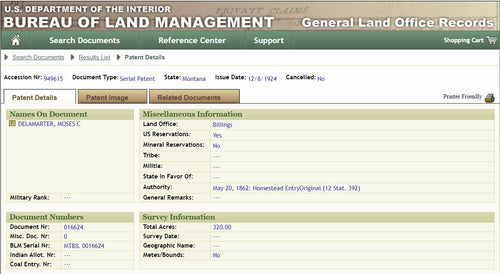 Federal Land Records