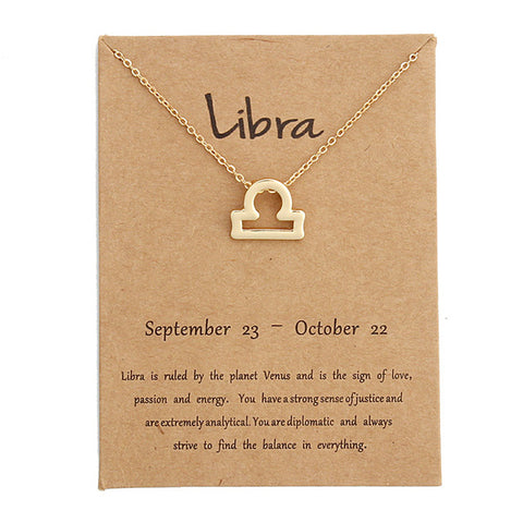 Image of Zodiac Signs Pendant In Gold Color