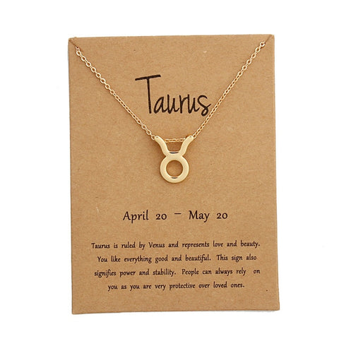 Zodiac Signs Pendant In Gold Color