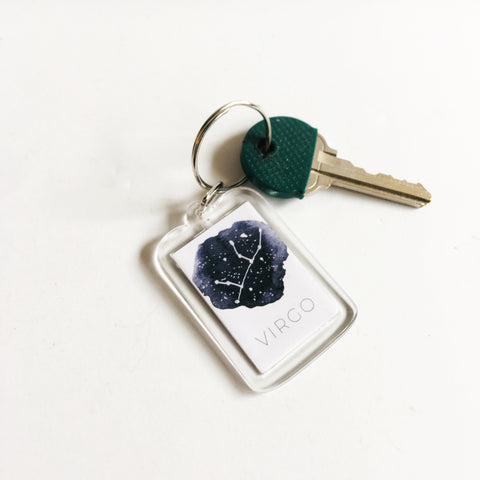 Zodiac Constellation Sign Keychain