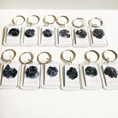Image of Zodiac Constellation Sign Keychain