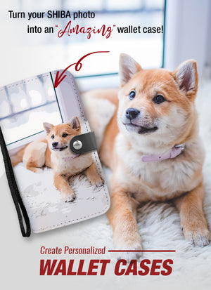 Personalized Shiba Inu Wallet Phone Case