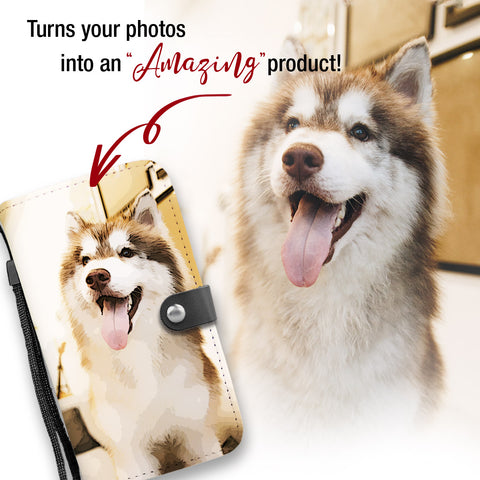 Personalized Husky Wallet Phone Case