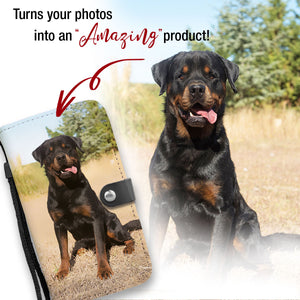 Personalized Rottweiler Wallet Phone Case