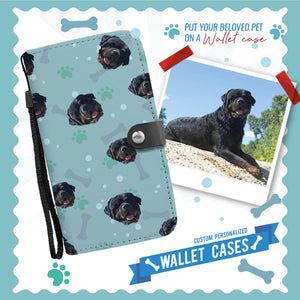 Personalized Mini Head Rottweiler Wallet Phone Case