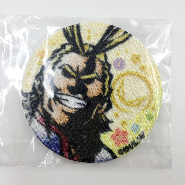 [All Might] Chirimen Can Badge