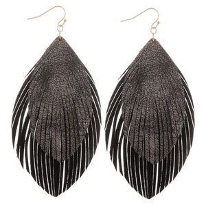 Layered Feather Earrings
