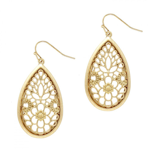 Tear Drop Filigree Earrings