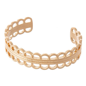 Scalloped Gold Cuff