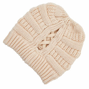 C.C Criss Cross Ponytail Beanies
