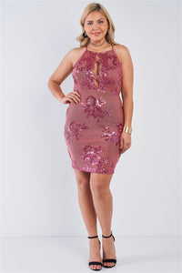 Marsala Sequin Dress
