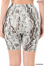 Load image into Gallery viewer, Snakeskin Biker Shorts
