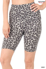 Load image into Gallery viewer, Leopard Hi-Waist Biker Shorts