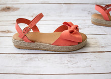 Load image into Gallery viewer, Coral Bow Espadrilles