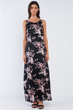 Load image into Gallery viewer, Satin Floral Maxi