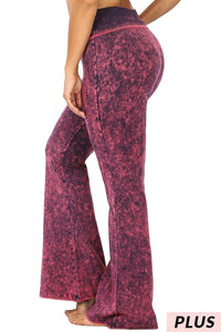 Mineral Wash Flare Yoga Pants