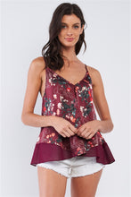 Load image into Gallery viewer, Floral Satin Top